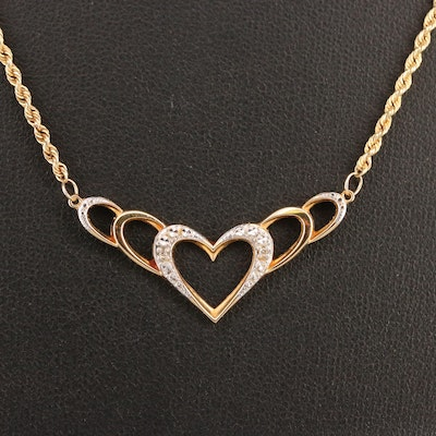10K Diamond Heart Necklace