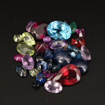 Loose 18.62 CTW Ruby, Emerald, Sapphire and Additional Gemstones