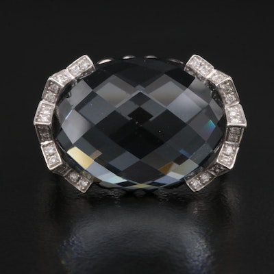 Stephen Webster 18K Quartz Doublet and Diamond Ring