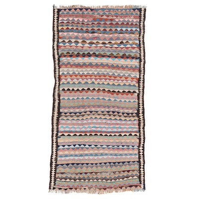 4'3 x 8'11 Handwoven Persian Kilim Wool Area Rug