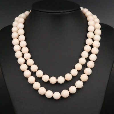 Single Strand Coral Necklace