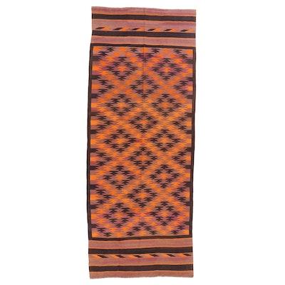 4'9 x 12'3 Handwoven Central Asian Kilim Long Rug