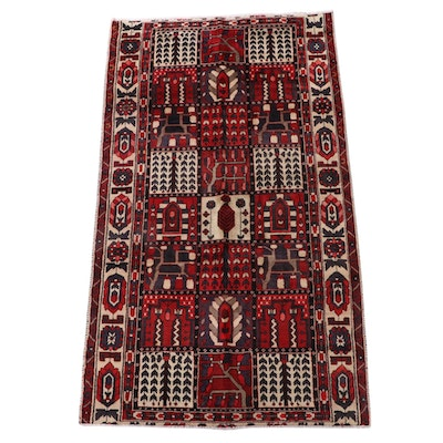 5'1 x 9'1 Hand-Knotted Persian Bakhtiari Garden Panel Area Rug