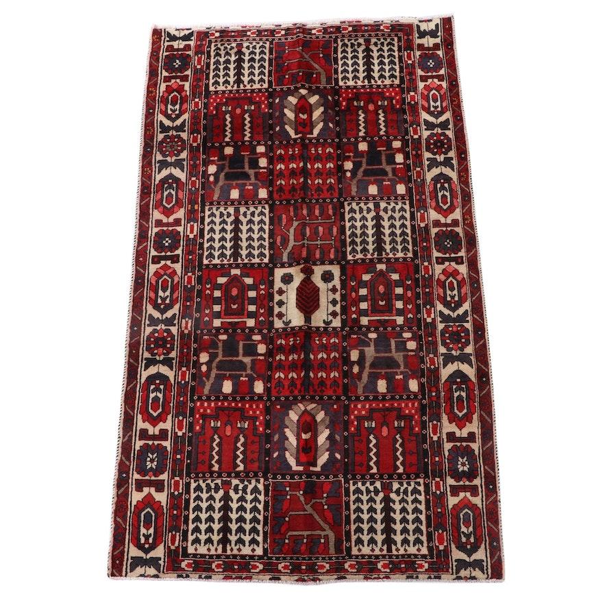 5'1 x 9'1 Hand-Knotted Persian Bakhtiari Garden Panel Area Rug