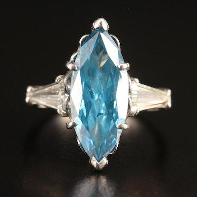 Platinum 3.36 CTW Diamond Ring