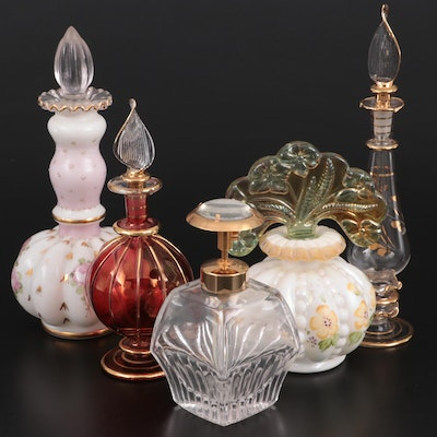 Glass and Porcelain Perfume Bottles, 20th Century