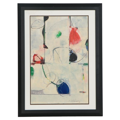 """Mark Whitmarsh Abstract Acrylic Painting """"Show Off,"""" 2020"""