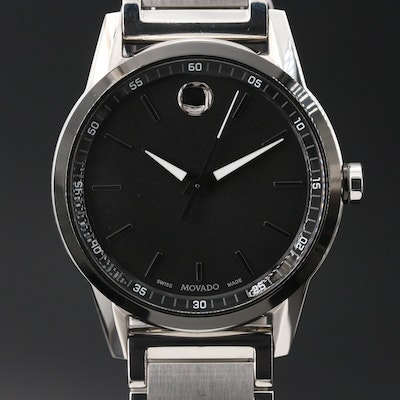 Movado Museum Sport Stainless Steel Quartz Wristwatch