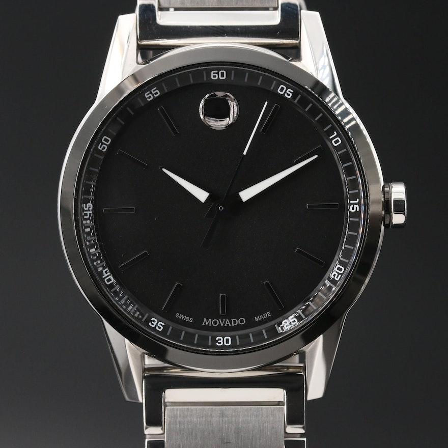 Movado Museum Sport Stainless Steel Quartz Wristwatch