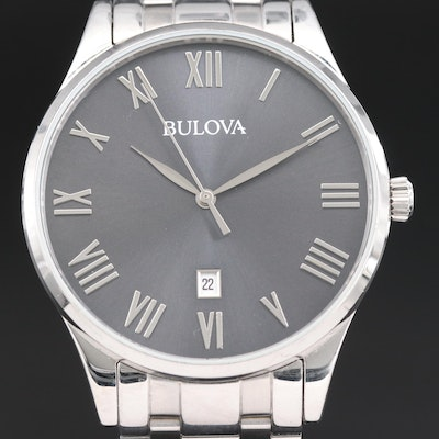 "Bulova ""Classic"" Stainless Steel Quartz Wristwatch"