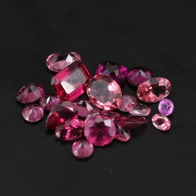 Loose 13.33 CTW Faceted Garnets and Tourmalines