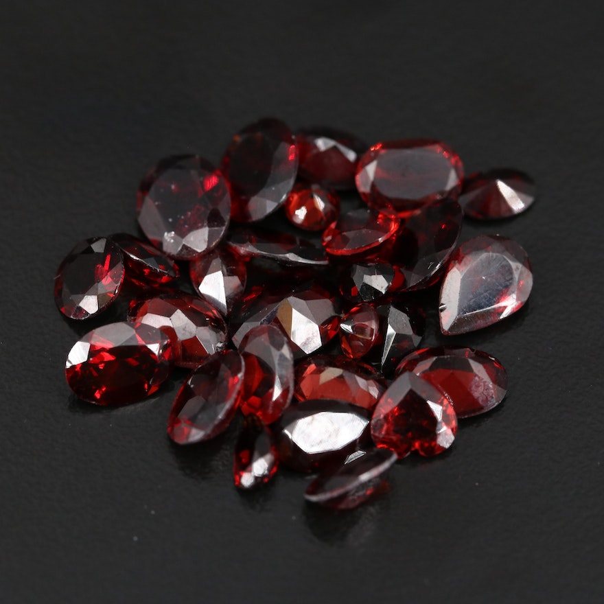 Loose 27.76 CTW Faceted Garnets