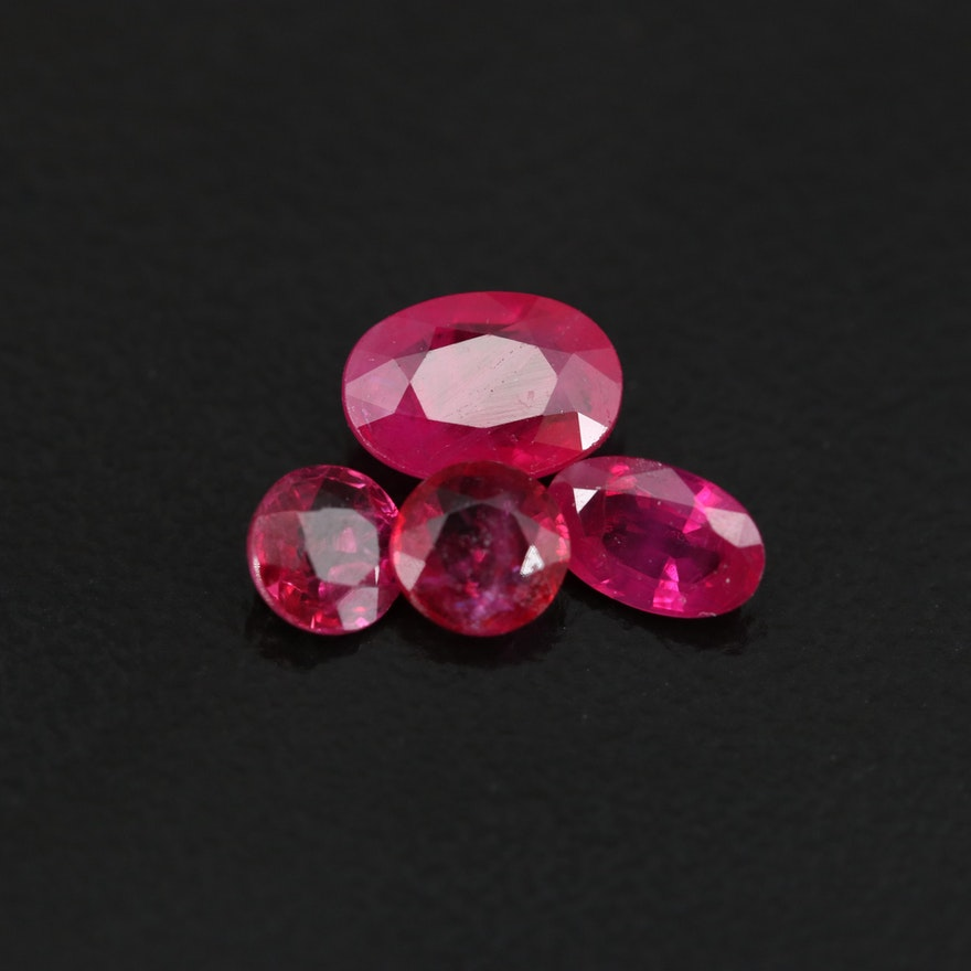 Loose 1.41 CTW Faceted Rubies