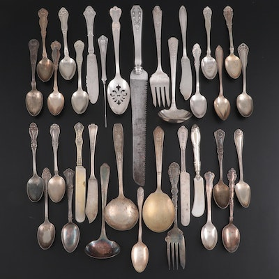 Oneida, Wm. Rogers and Other Silver Plate Flatware and Serving Utensils