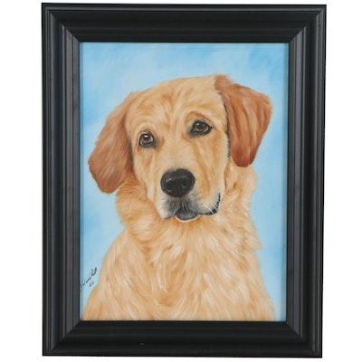Joseph Veillette Canine Oil Portrait, 2020