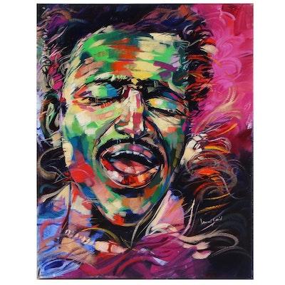 "Said Oladejo-lawal Acrylic Painting ""Jr.,"" 2015"