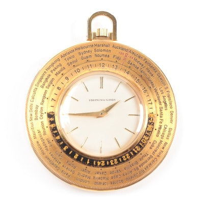 Fortnum & Mason Swiss Made Travel Clock with International Bezel