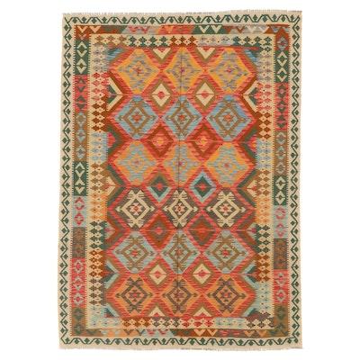 5'11 x 8'5 Handwoven Afghan Turkish Kilim Rug