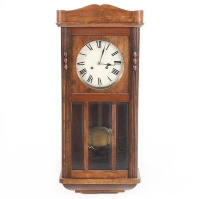 Junghans Art Deco Walnut Regulator Wall Clock, Early to Mid 20th Century