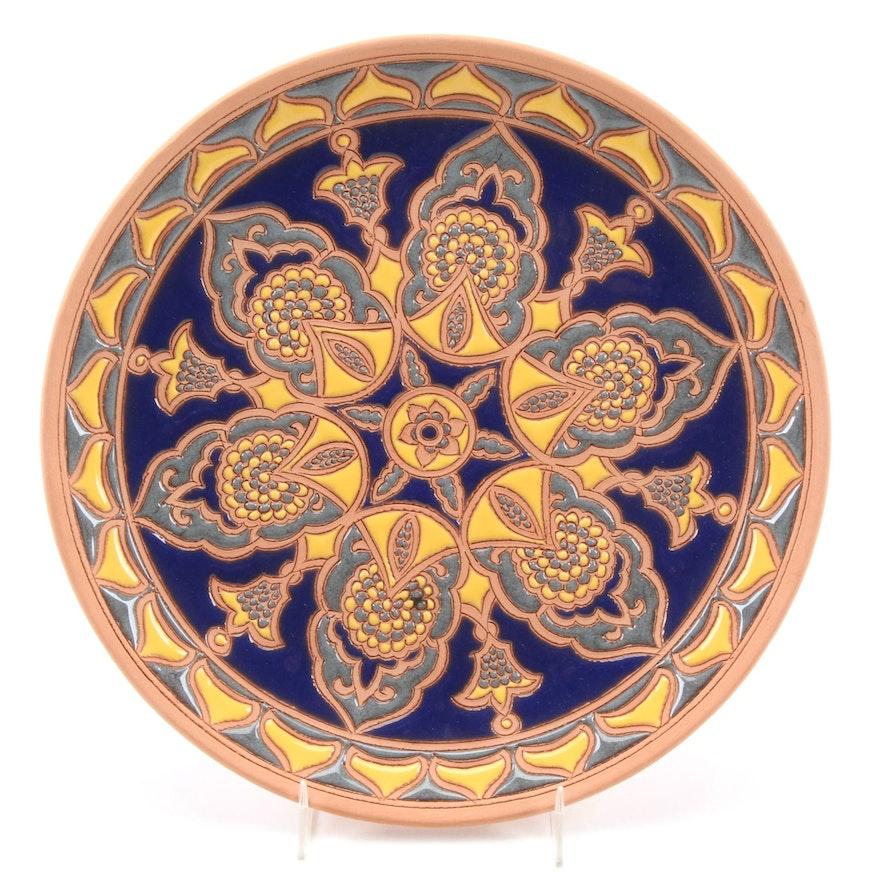 Bonis Pottery Greek Handmade Earthenware Decorative Plate