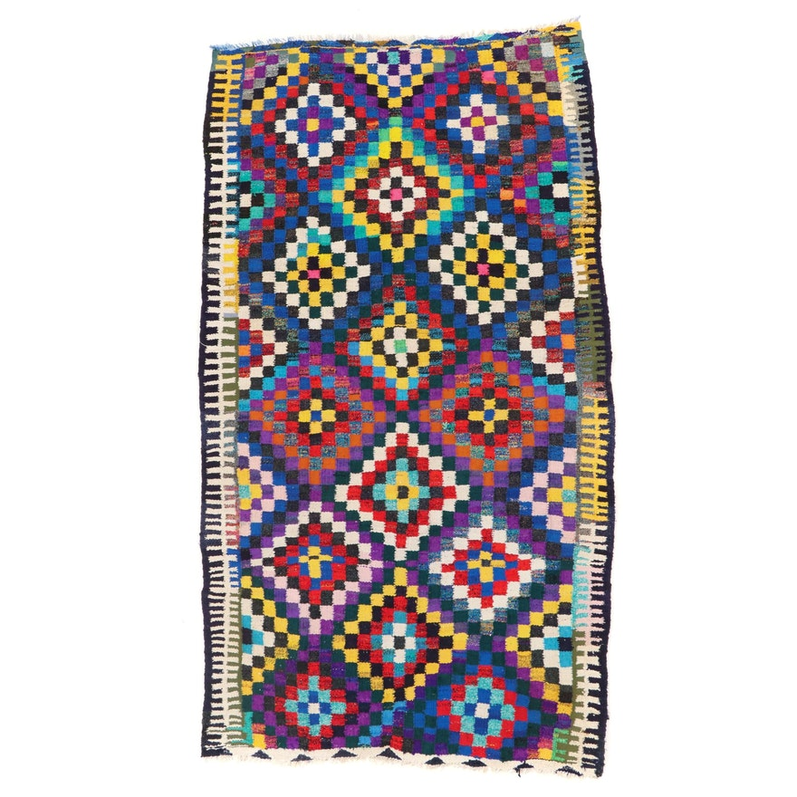 5'10 x 10'1 Handwoven Persian Kilim Wool Rug