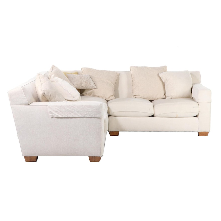 Henredon Contemporary Three-Piece Upholstered Sectional Sofa