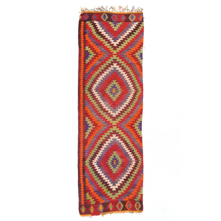 3'1 x 9'10 Handwoven Turkish Kilim Carpet Runner