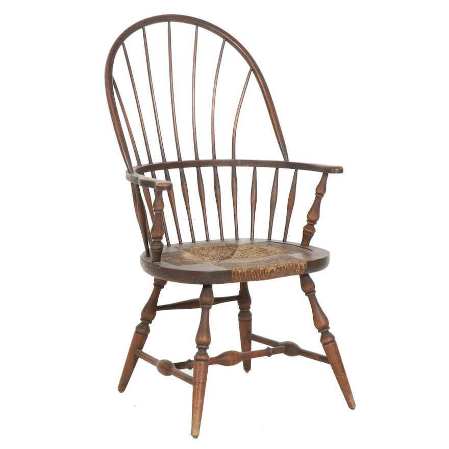 Karpen Furniture Windsor Armchair with Woven Cord Seat, Early to Mid 20th C.