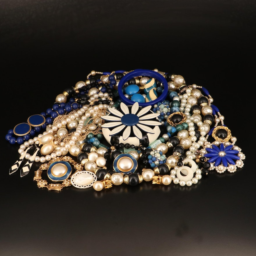 Jewelry Including Faux Pearl, Mother of Pearl, Enamel and More