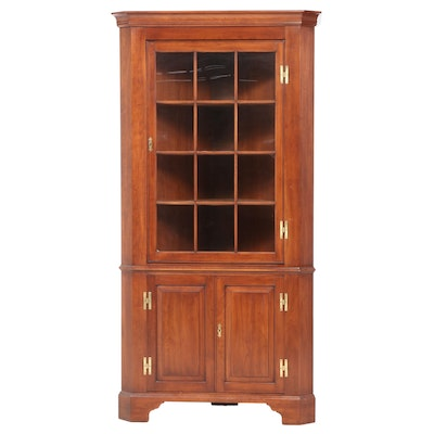 "Henkel-Harris ""Virginia Galleries"" Chippendale Style Cherrywood Corner Cupboard"