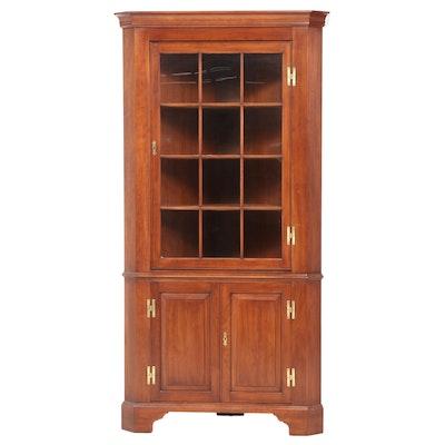 """Henkel-Harris """"Virginia Galleries"""" Chippendale Style Cherrywood Corner Cupboard"""