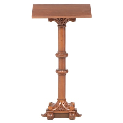 Renaissance Revival Carved Walnut Lectern Stand