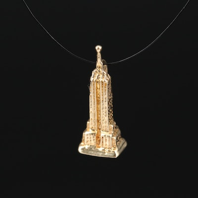 14K Empire State Building Charm