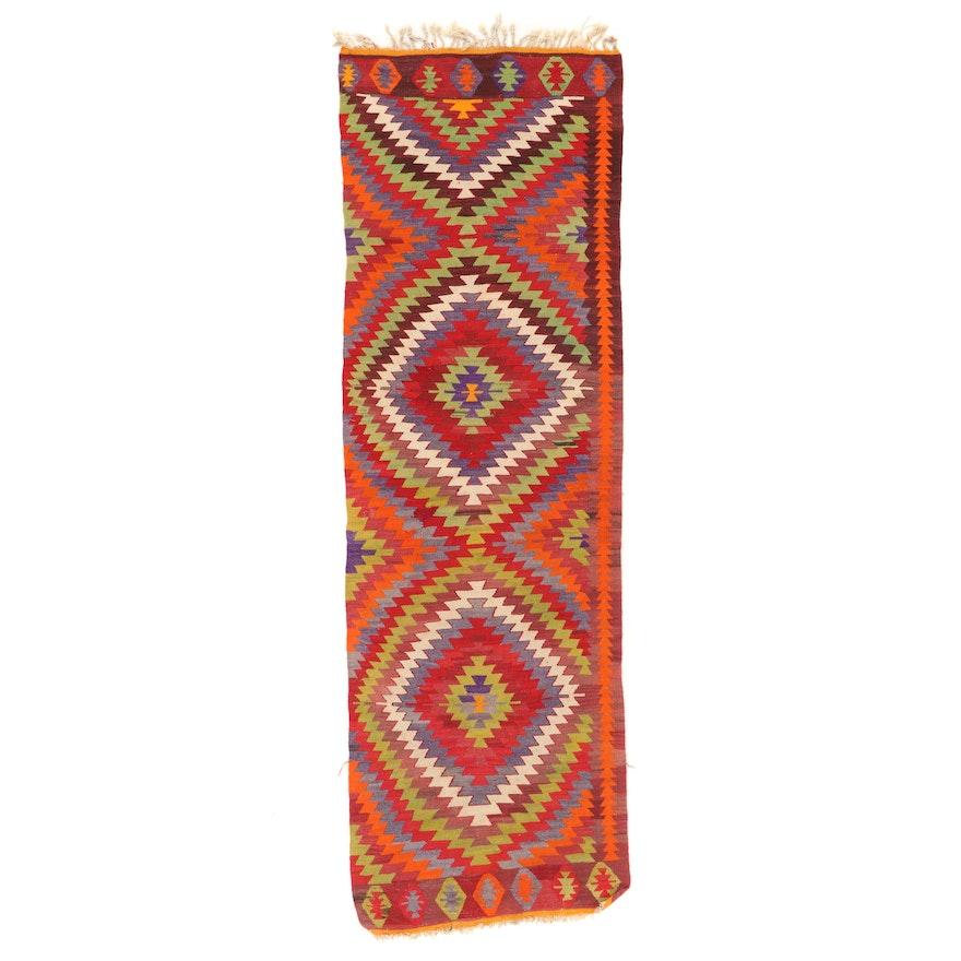 3'1 x 10'1 Handwoven Turkish Kilim Carpet Runner