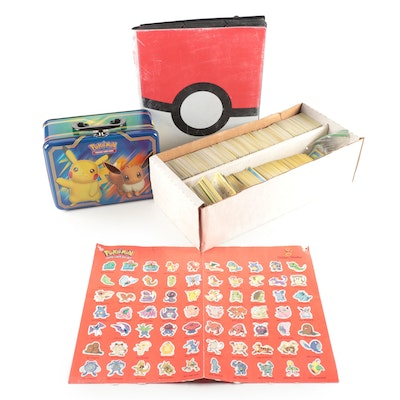 Collection of Pokémon Cards, Including 1990s and Holo-Cards
