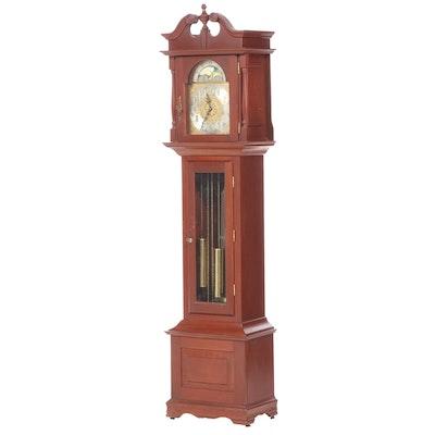 Emperor Clock Cherry Grandfather Clock, Mid to Late 20th Century