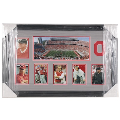 "The Ohio State University Football Coaches and ""Horseshoe"" Framed Photo Print"