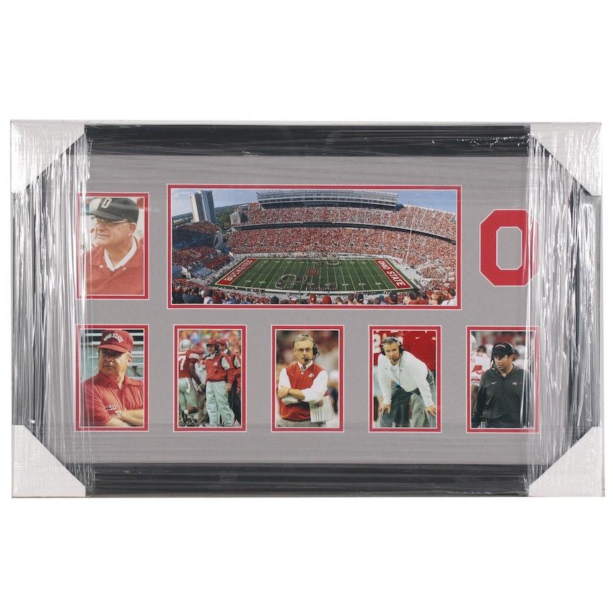 "The Ohio State University Football Coaches and ""Horseshoe"" Framed Photo Print"