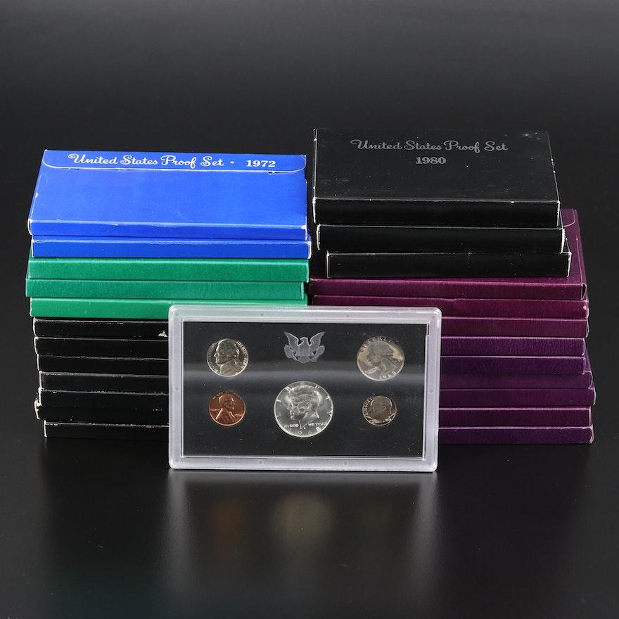 Twenty-Five U.S. Mint Proof Sets, 1968–1996