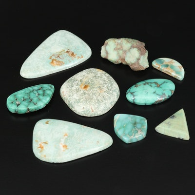 Loose Turquoise Selection Featuring Rough and Freeform Shapes