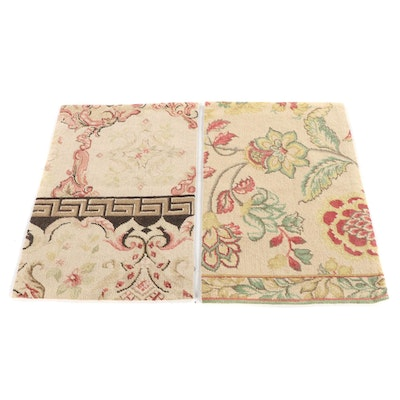 1'11 x 2'10 Handmade Chinese Wool Floral Accent Rugs from the Rug Gallery
