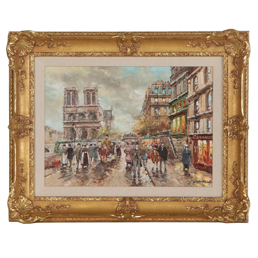 "Anne Champeaux Oil Painting ""Paris"""