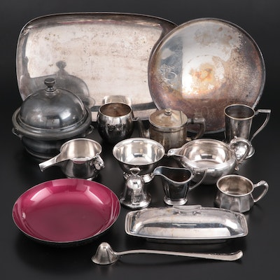 Reed & Barton, Gorham, and Other Silver Plate Tableware, Early-Mid 20th Century