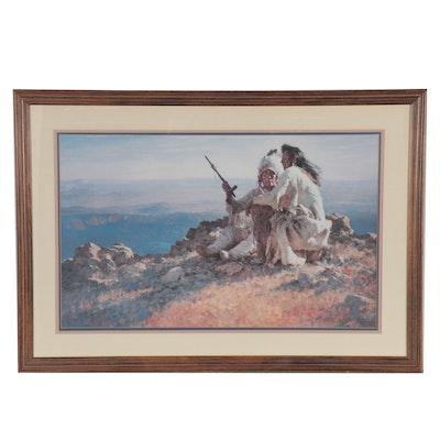 "Howard Terpning Offset Lithograph ""The Telling of the Legends,"" 1990"