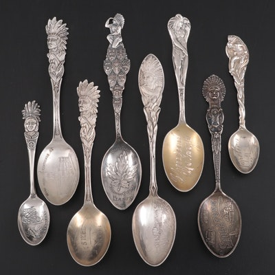 Alvin, Fessenden & Co. and Howard Sterling Souvenir Spoons and Other Spoons