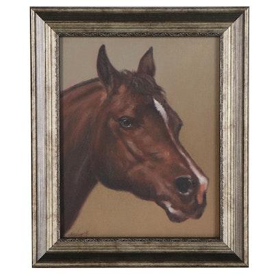 "John Silver Oil Painting ""Horse Portrait,"" 2020"
