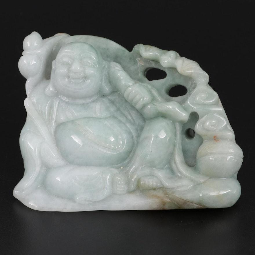 Chinese Carved Jadeite Budai Figurine