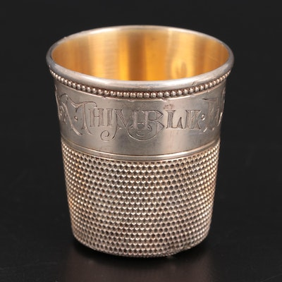 Simons Brothers Sterling Silver Thimble Shot Glass
