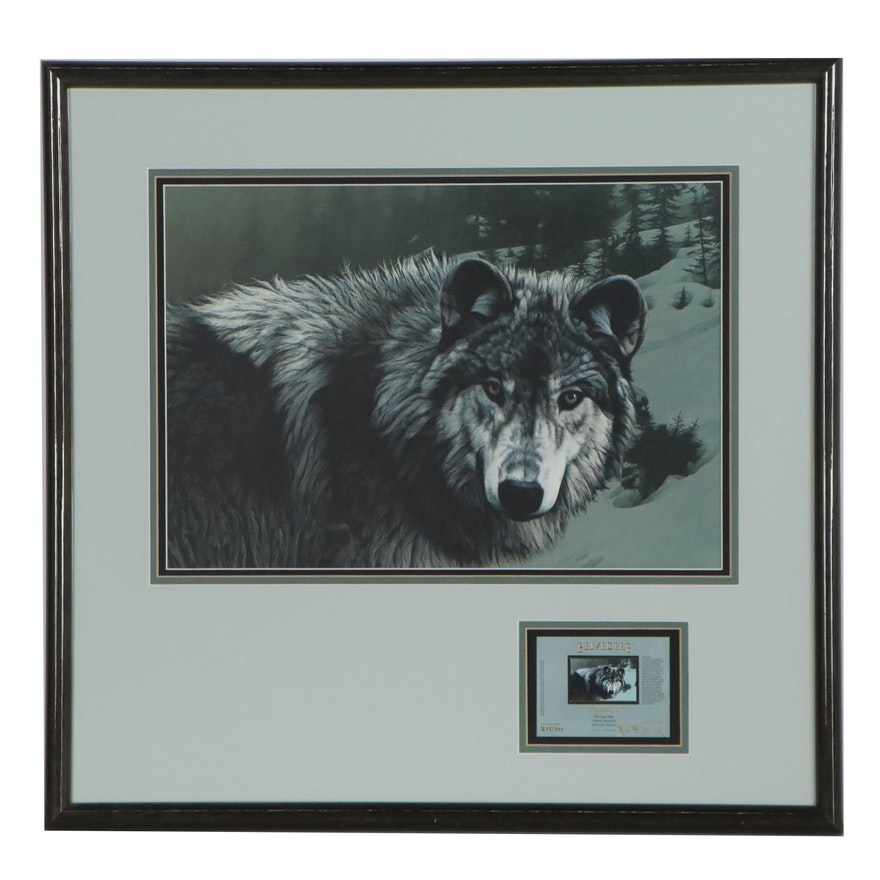 """Rod Frederick Offset Lithograph with Certificate """"Timber Ghost,"""" 1988"""
