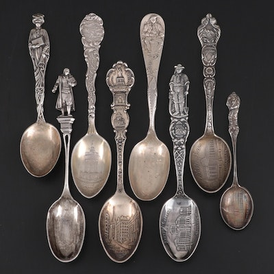 Mechanics, Frank W. Smith Silver Co. and Other Sterling Silver Souvenir Spoons